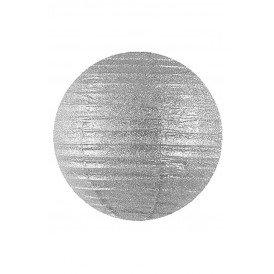 Lampion glitter zilver 25 cm.
