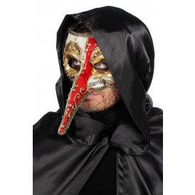 Masker met lange neus, rood