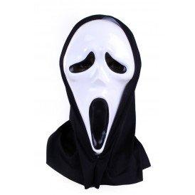 Masker Scream plastic met hoofddoek