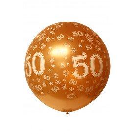 Mega ballon bedrukt 50 metallic goud 36 inch