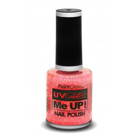 Glitter nagellak neon UV pink