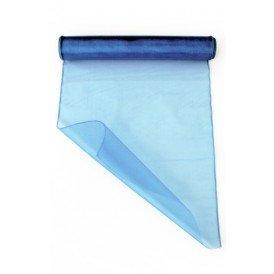 Organza baby blauw 32 cm x 9 meter