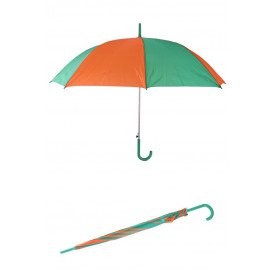 Paraplu oranje/groen 59 cm.