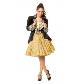 Petticoat luxe metallic,  goud