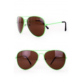 Zonnebril/ Pilotenbril fluo Groen
