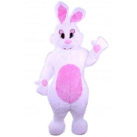 Pluche wit konijn deluxe met buikje