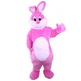 Pluche roze konijn deluxe met buikje