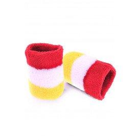 Polsbandjes rood/wit/geel Oeteldonk one size
