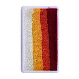 PXP 28 gram splitcake block pred | orange | yellow | white