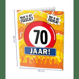 70 jaar window sign