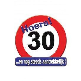 Huldeschild HOERA 30 JAAR 50x50 cm