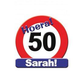 Huldeschild HOERA 50 SARAH 50x50 cm