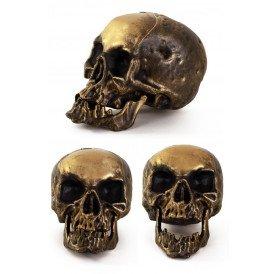 Skelet hoofd 18 cm. goud