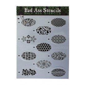 Bad Ass HALF ASS stencil DESIGN