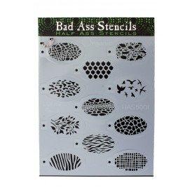 Bad Ass HALF ASS stencil ORGANIC