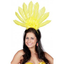 Tiara samba met veren