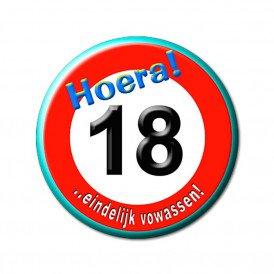 18 jarige button