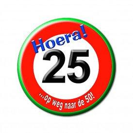 25 jarige button