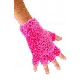 Softy vingerloze handschoenen roze
