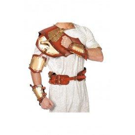 Warrior set bruin/goud (harnas/riem/manchetten)