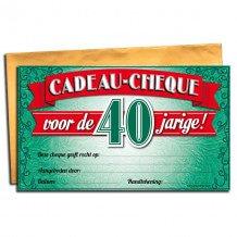 40 jaar Gift Cheque