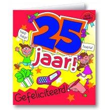 Wenskaart 25 jaar