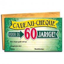 60 jaar gift cheque