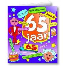 Wenskaart 65 jaar