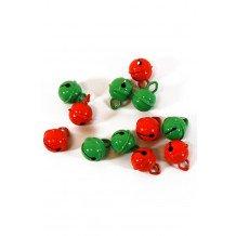 Belletjes R1 15 mm 12 st in z.b. oranje-groen
