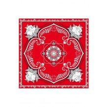 Boerenzakdoek rood bloemen motief