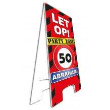 Waarschuwingsborood/Warning sign 50 ABRAHAM