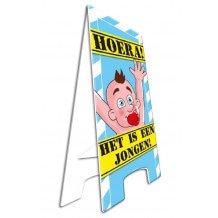 Waarschuwingsborood/Warning sign HOERA! HET IS EEN JONGEN!