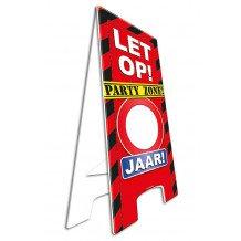 Waarschuwingsborood/Warning sign LET OP....JAAR