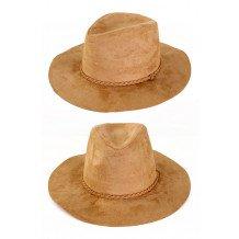 Cowboyhoed suede indiana beige