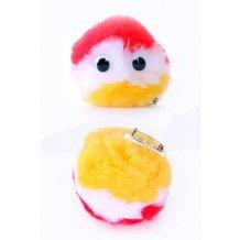 Lolbollen plush rood/wit/geel