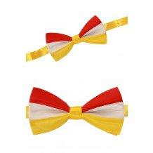Luxe strik rood/wit/geel