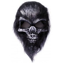 Masker hard plastic doodshoofd aap harig