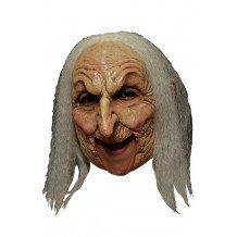 Masker oude heks wit haar