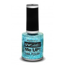 Glitter nagellak neon UV blauw