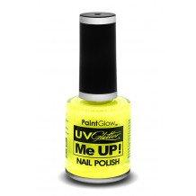 Glitter nagellak neon UV geel
