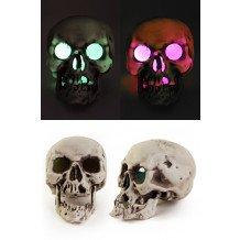 Skelet hoofd 18 cm. met licht