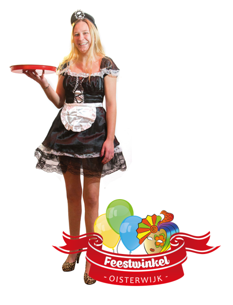Carnavalskleding Goedkoop Dames.Serveerster Feestwinkel Oisterwijk